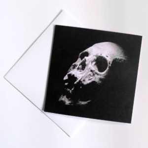 human skull card