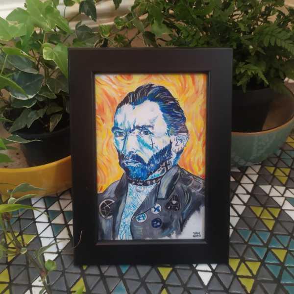 Framed Van Goth Painting