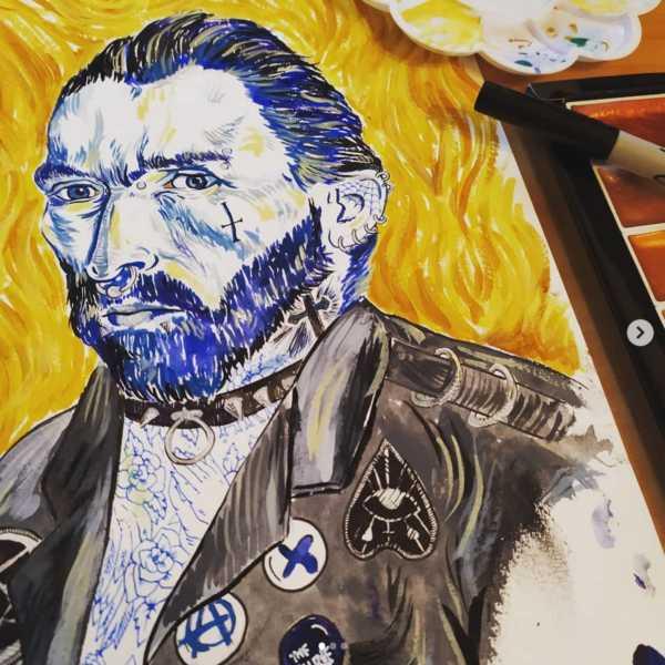 Close Up Van Goth Painting