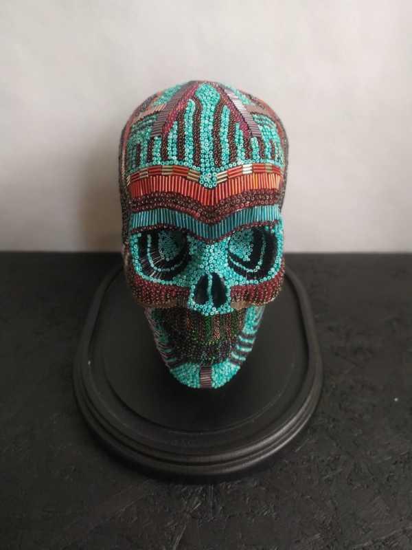 Huichol Skull Face