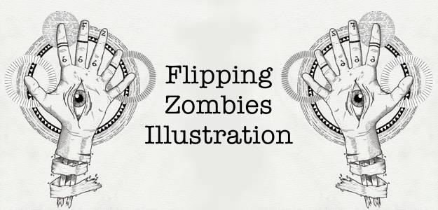 Flipping Zombies Illustration