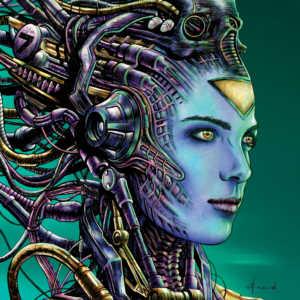 Cyberpunk Girl Poster