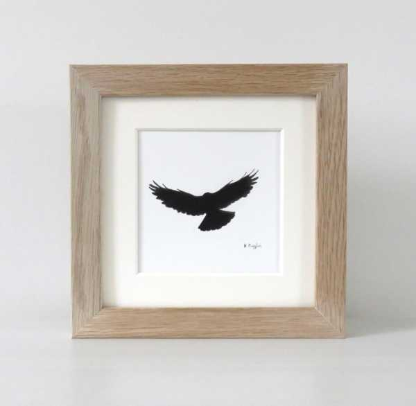 Flying crow drawing by Drawing in Dark